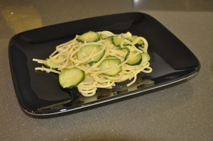 Spaghetti with Courgettes