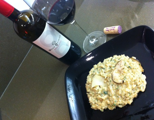 Porcini Risotto and 'Duas Quintas'