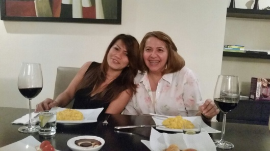 My first Risotto Milanese at Kempinski with Maria, Mila and Itza.